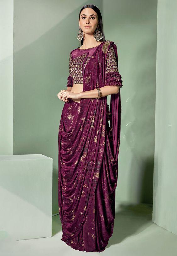 purple indian dresses for brides