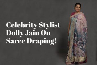 dolly jain saree draping