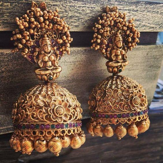 south indian bridal earrings