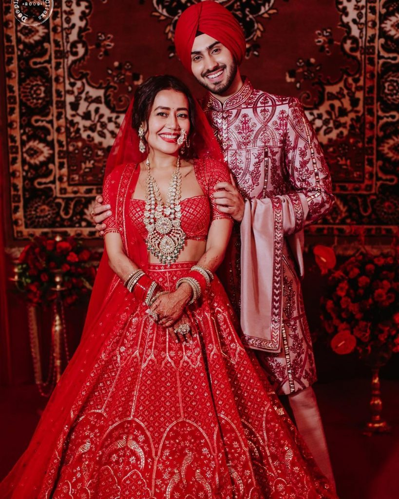 color coordinated wedding outfits