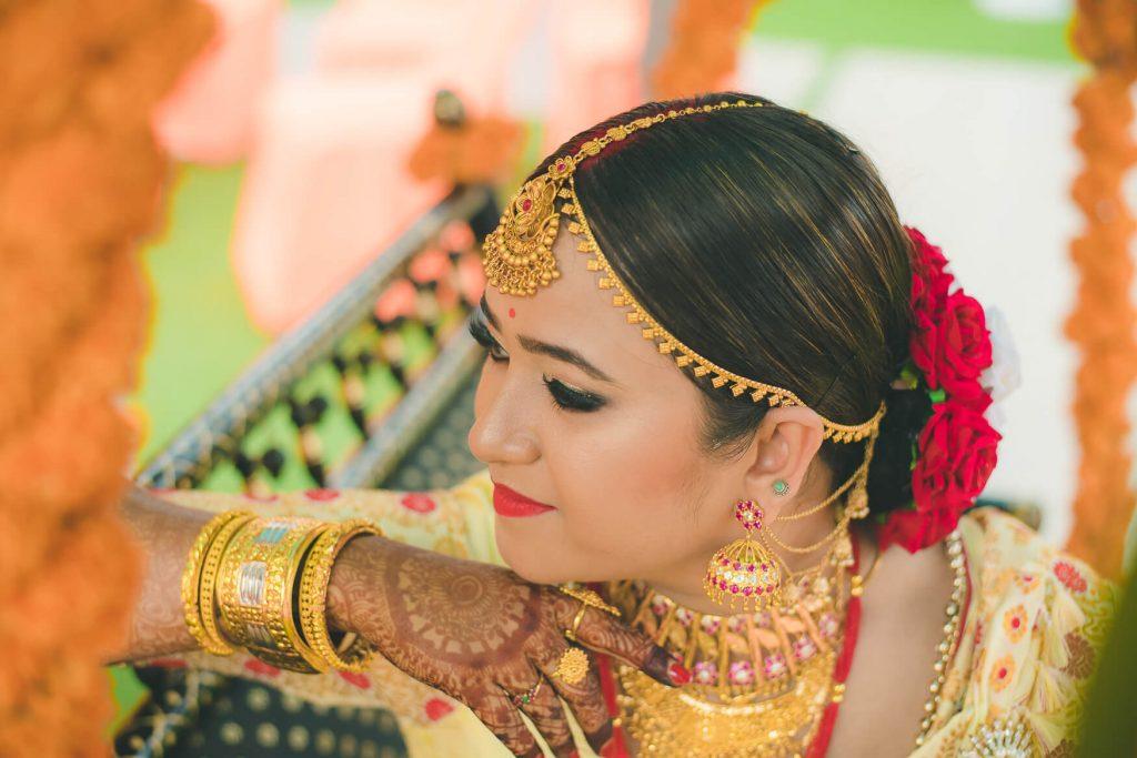 Assamese bridal look