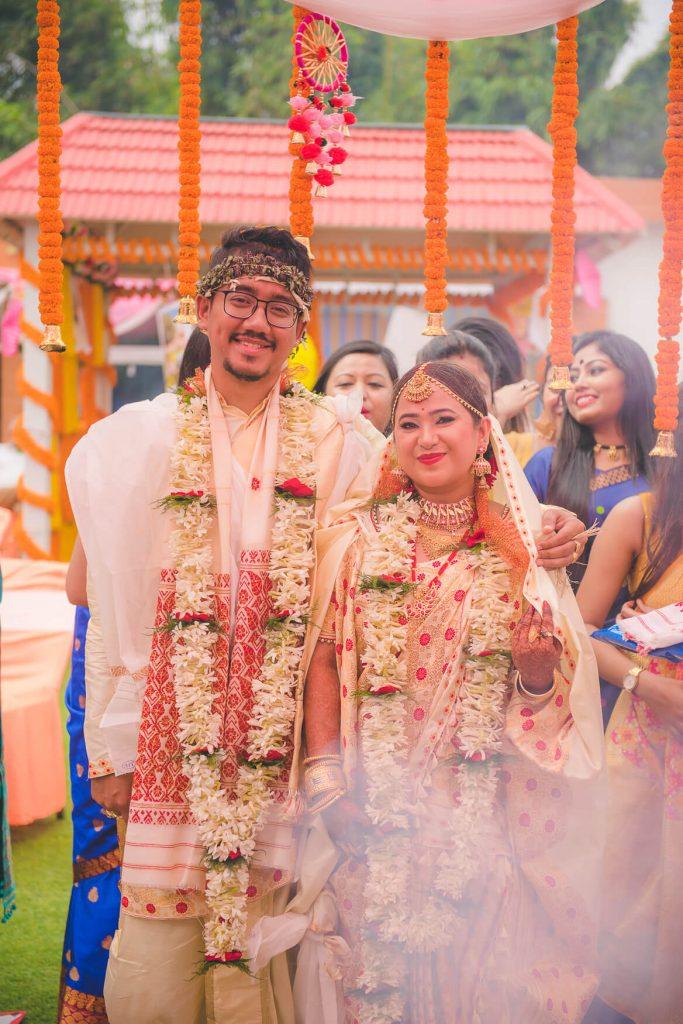 Assamese wedding couple