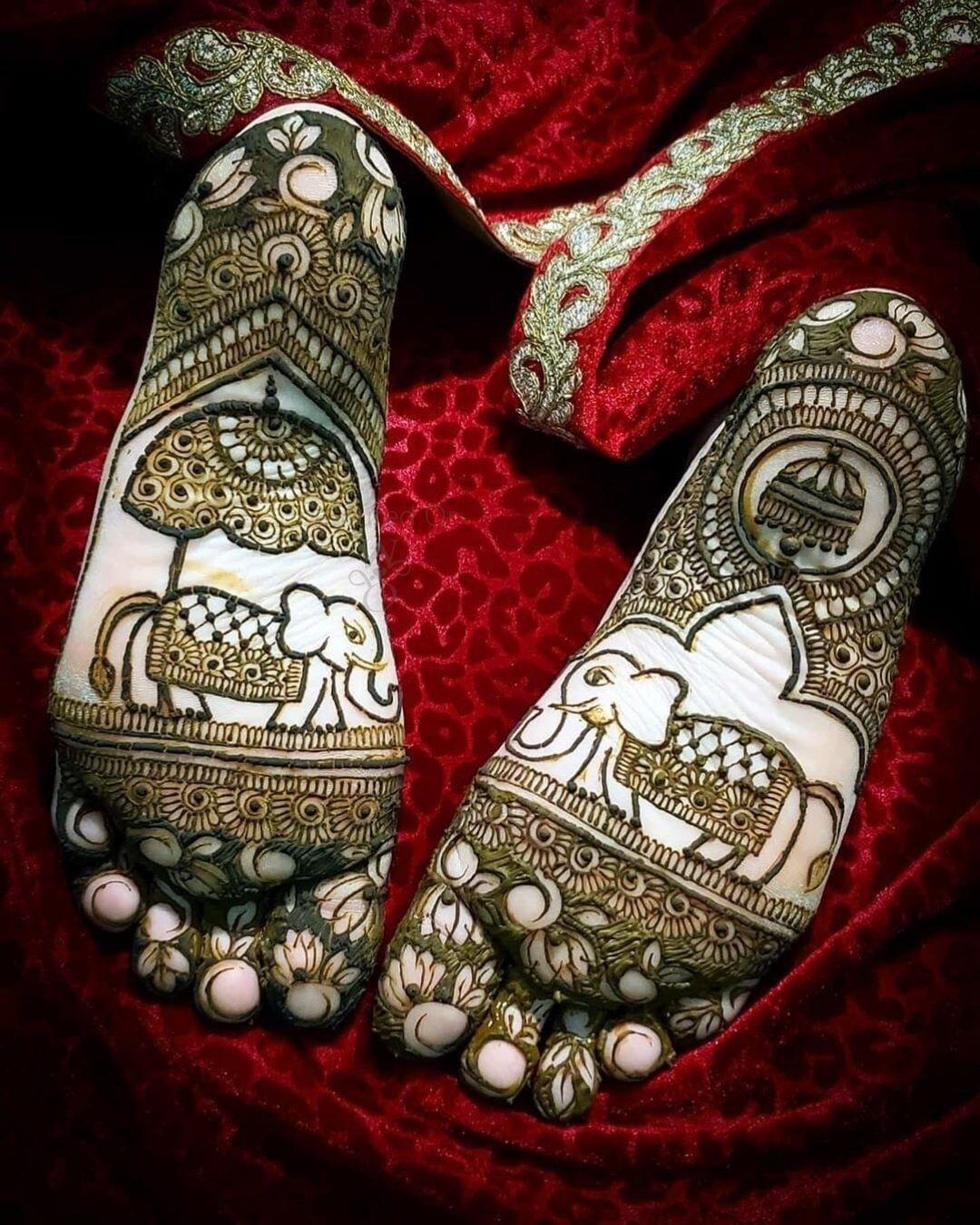 Back Feet Mehndi