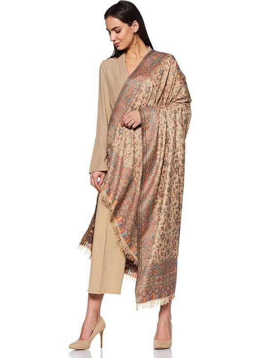 Beige Shawl Nykaa Fashion
