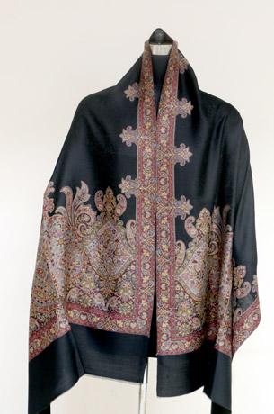 Black Shawl Wool Sutra