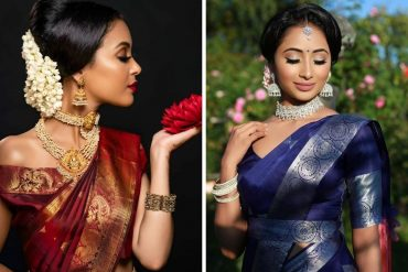 choker with kanjeevaram sarees