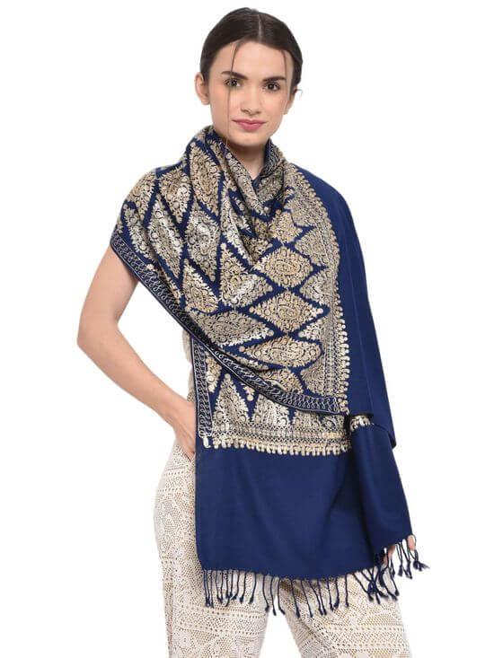 Blue Bridal Shawl Nykaa Fashion