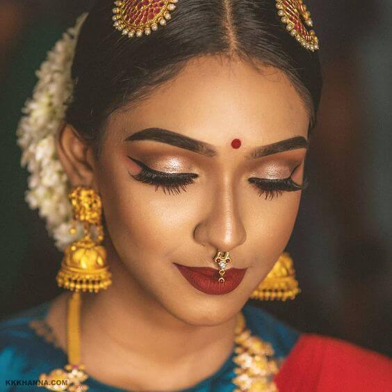 Bold Lip Bridal Makeup