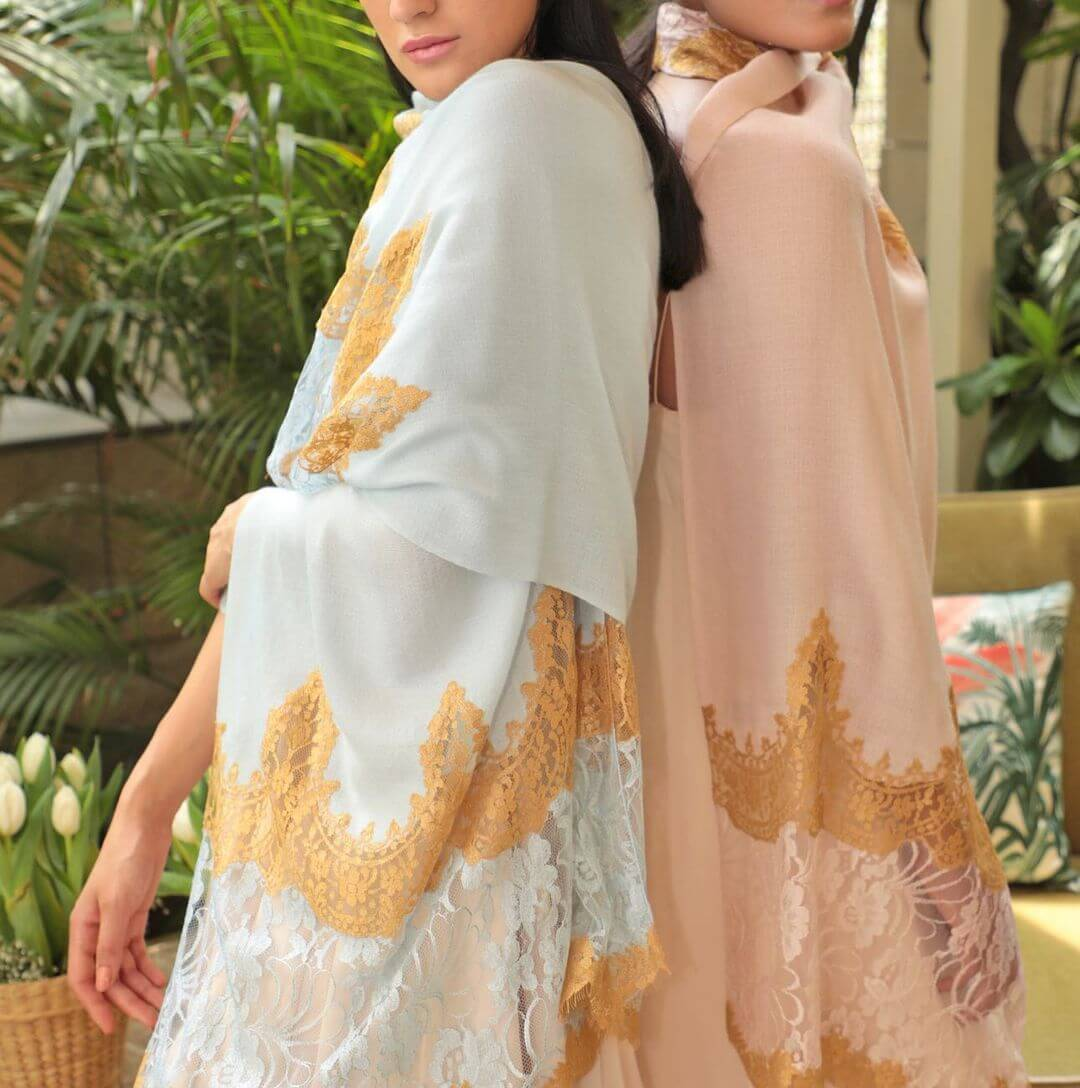 Bright Ivory Bridal Cashmere Janavi India