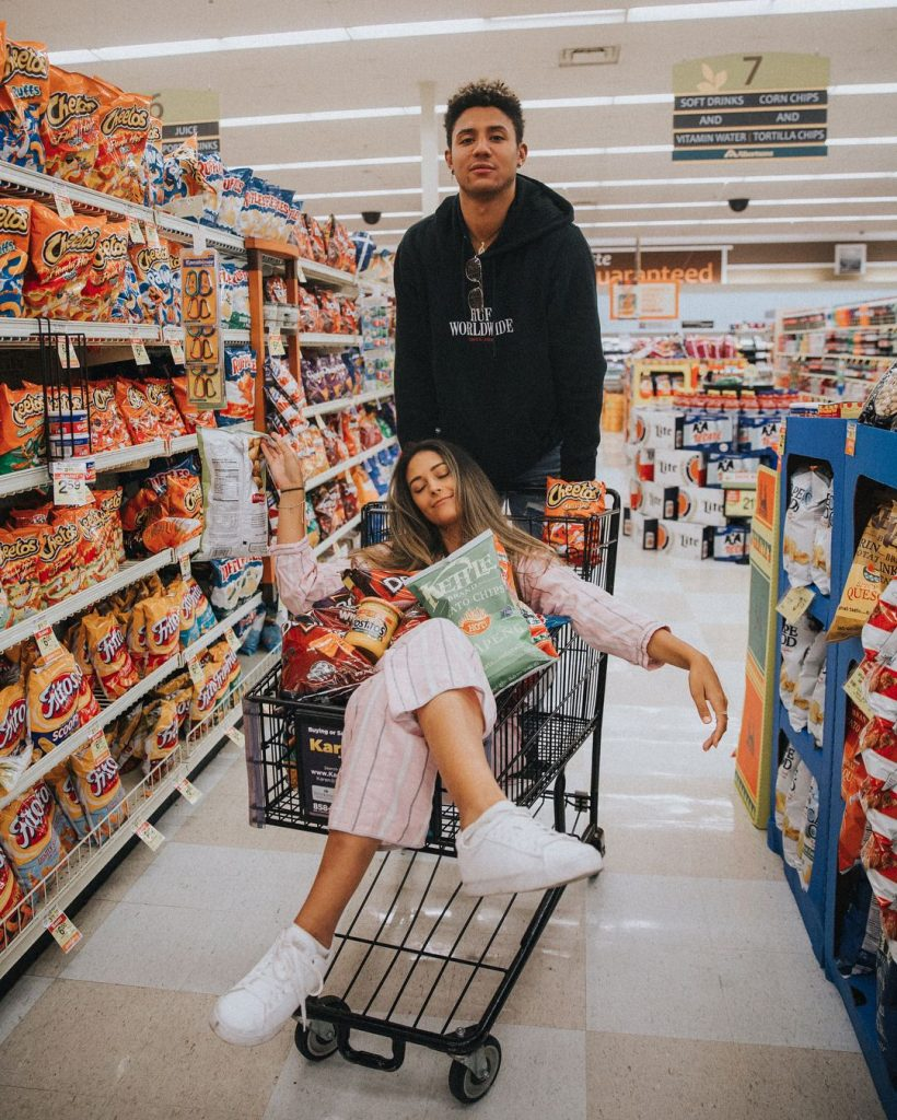 Grocery Shopping with partner