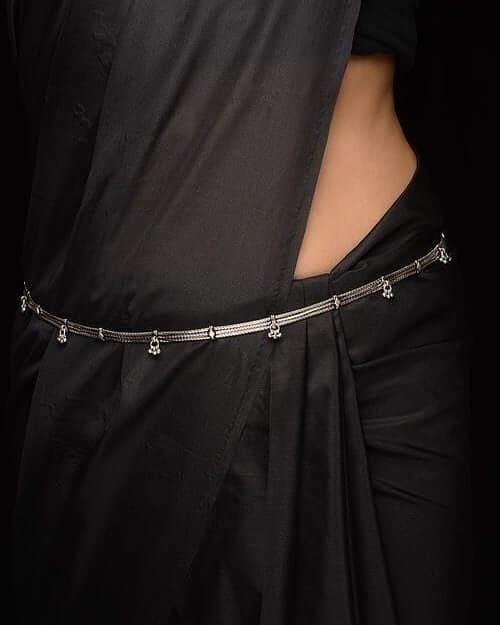 Sleek Silver Waist Chain
