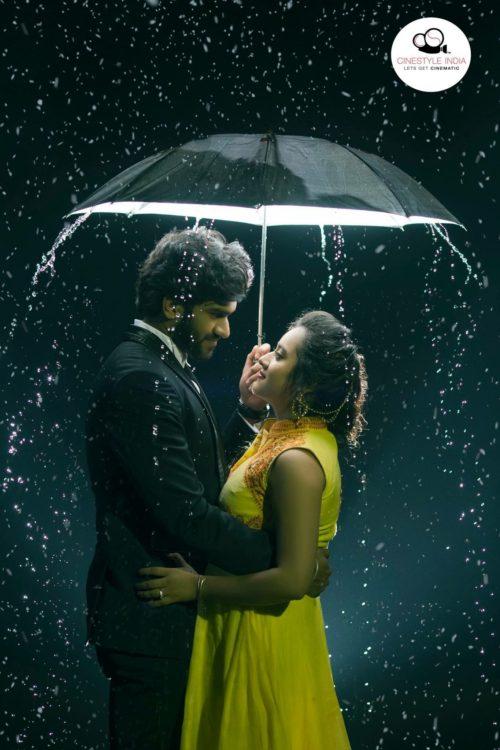 Rain pre wedding shoot