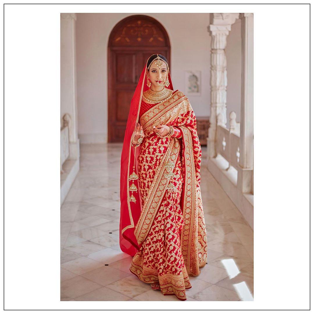 bridal red saree