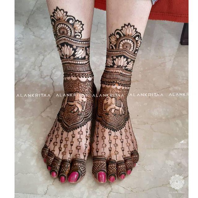 feet mehendi
