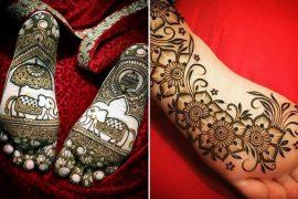 back feet mehndi designs