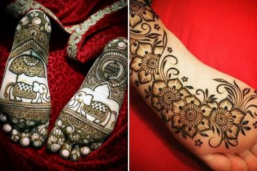 back feet mehndi designs