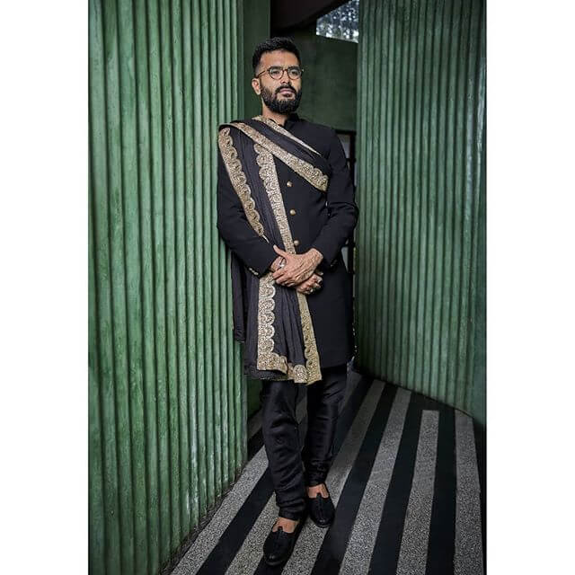 black sherwani ideas