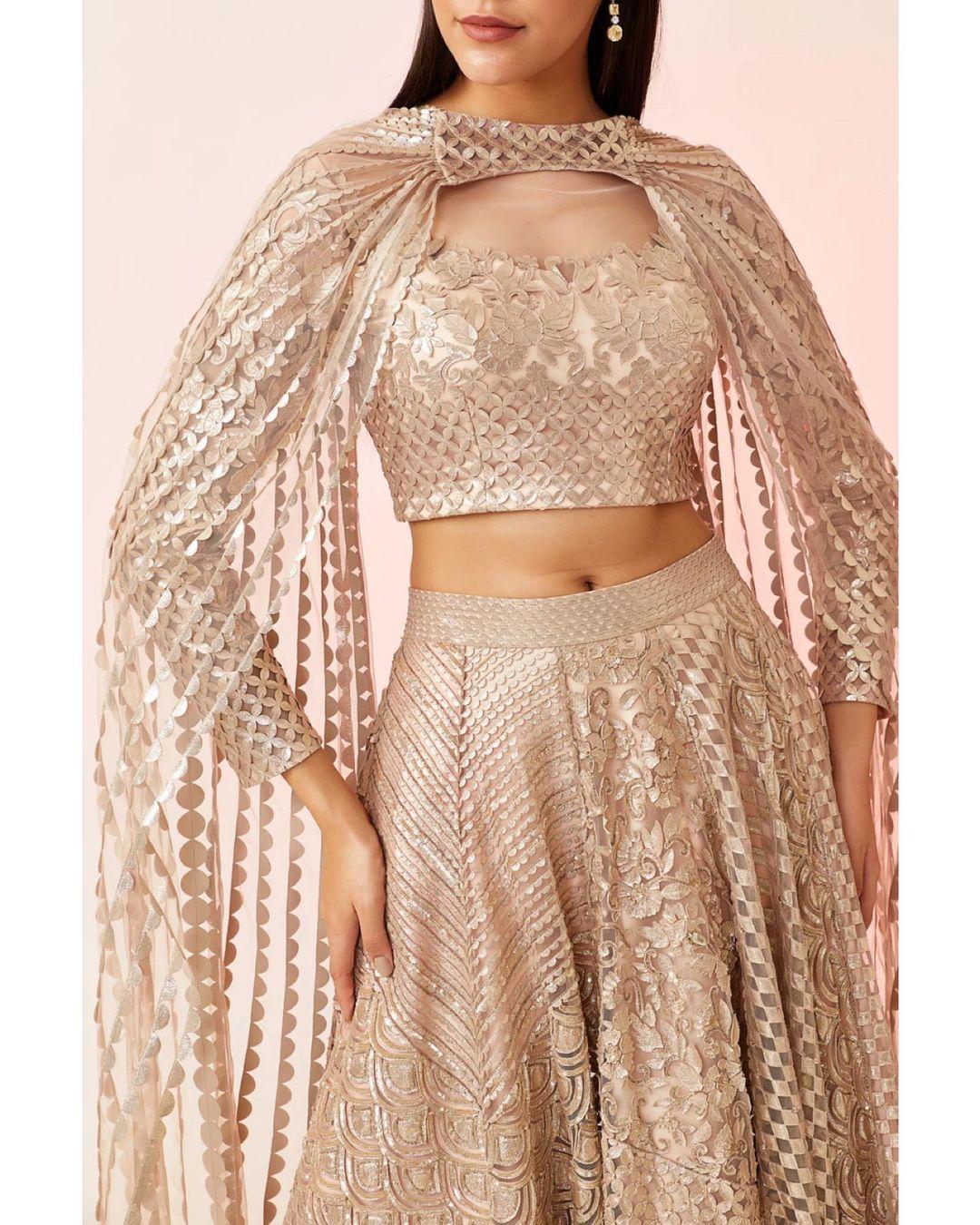 bridal cape blouse