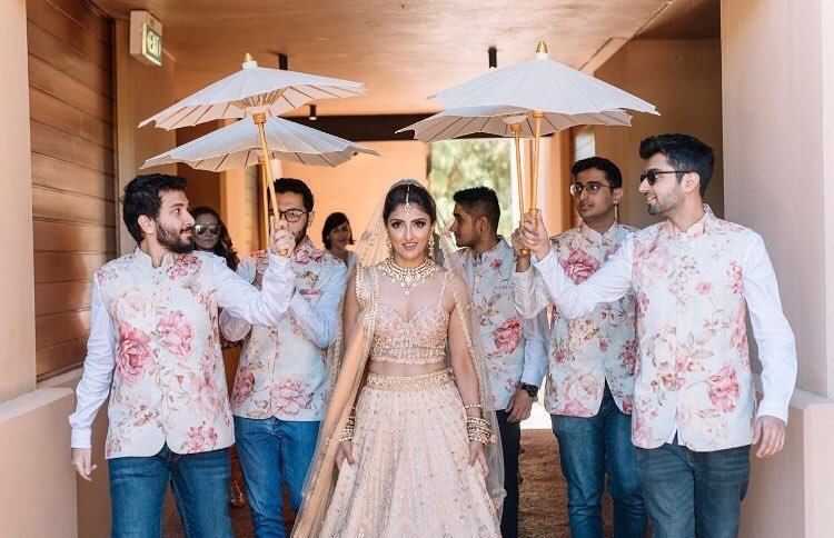bridal entry with brothers