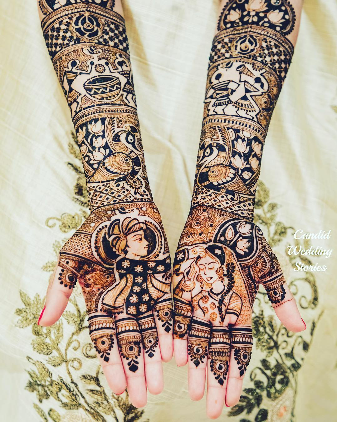 bridal portrait henna