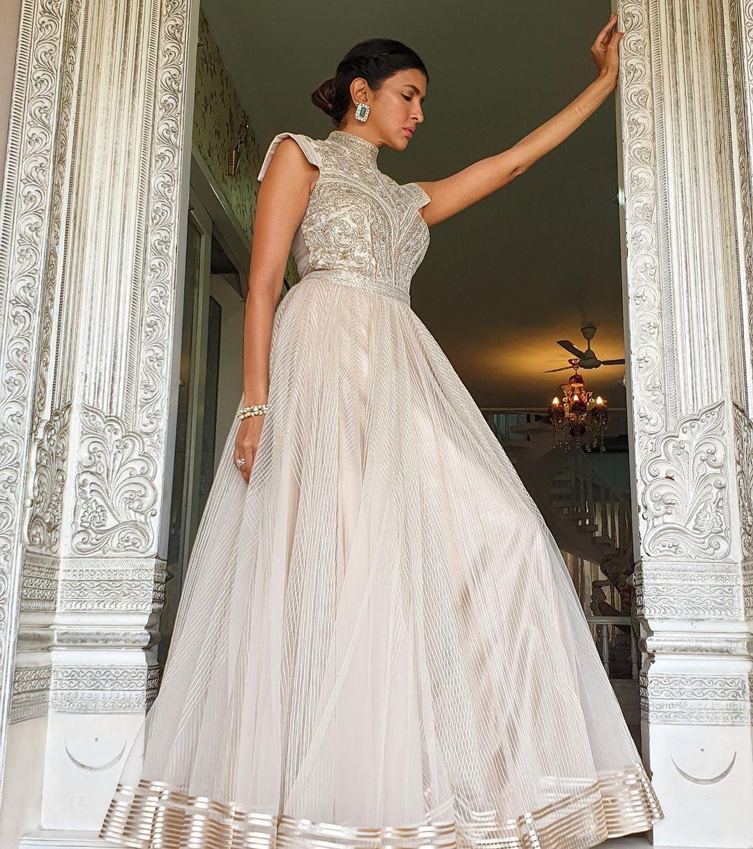 Ivory Anarkali Gown