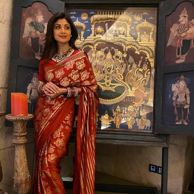 shilpa banarsi saree