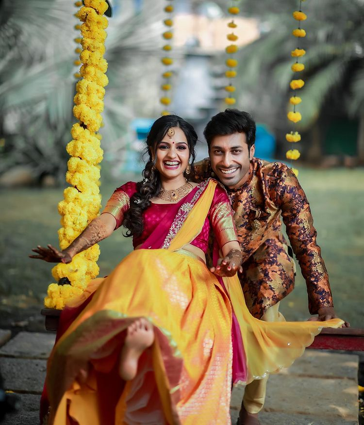 Happy South Indian Couple