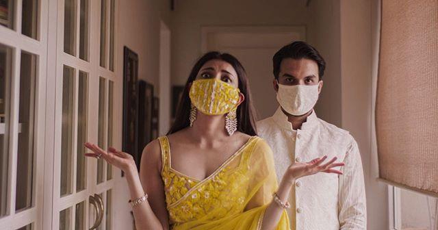 kajal & gautam's masks