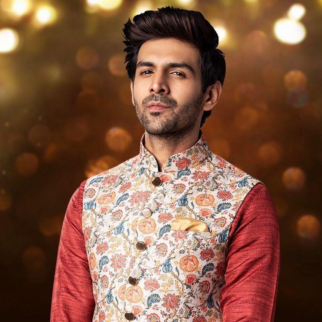 Kartik Aaryan's Floral Nehru Jacket