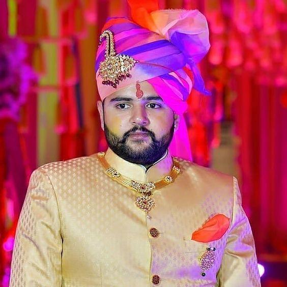 lehriya groom pagri print