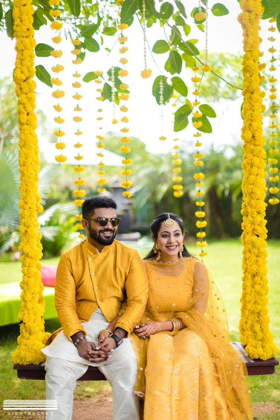 Oonjal Ceremony of South Indian Couple