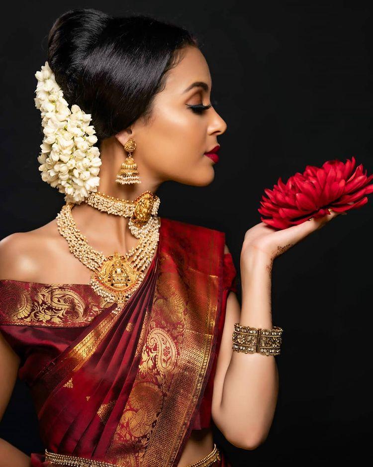 choker with kanjeevaram