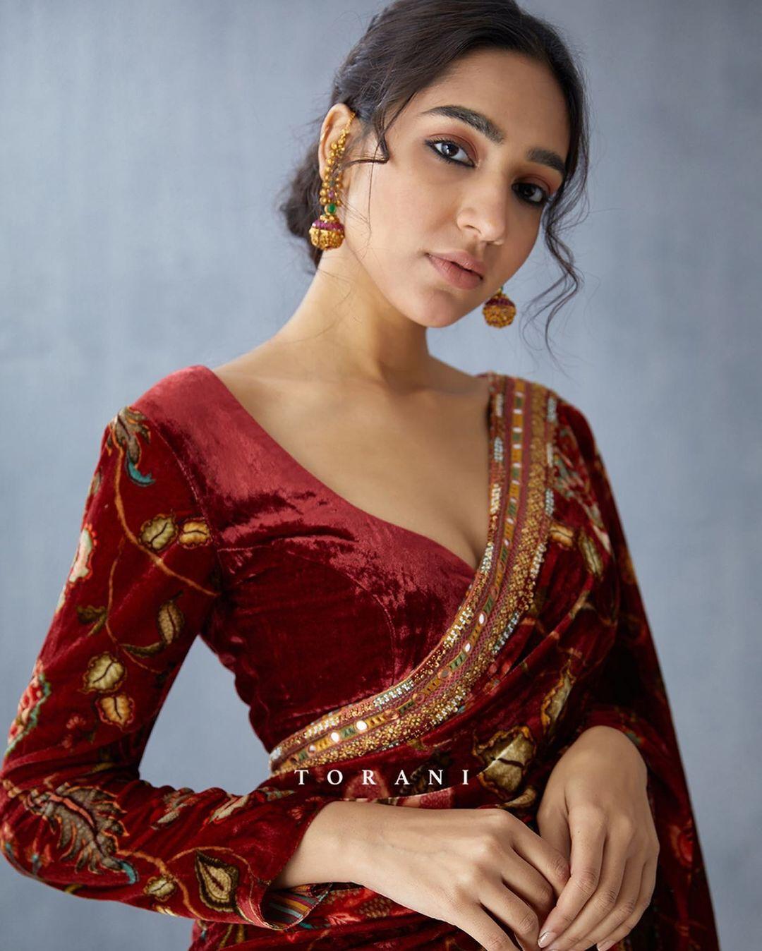 maroon velvet blouse
