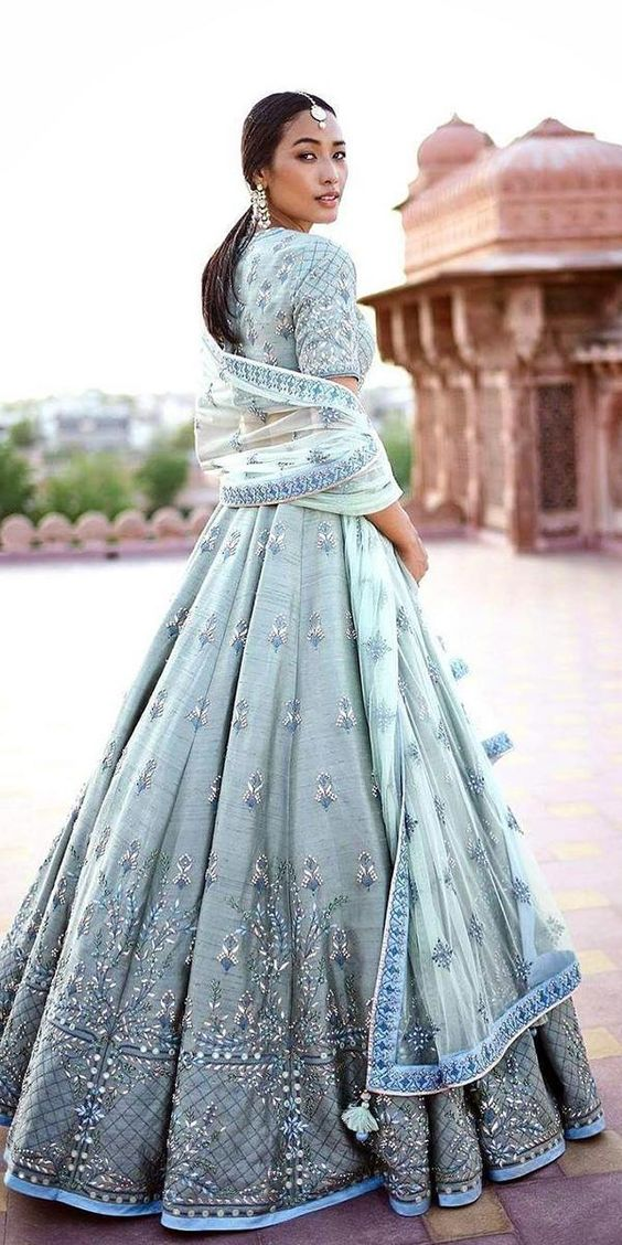 pastel lehengas for wedding