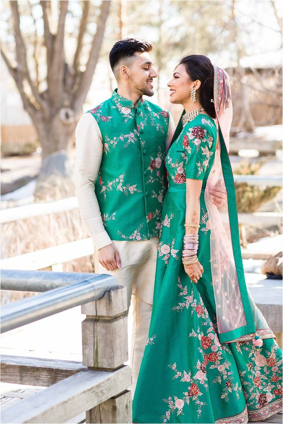 green floral outfits