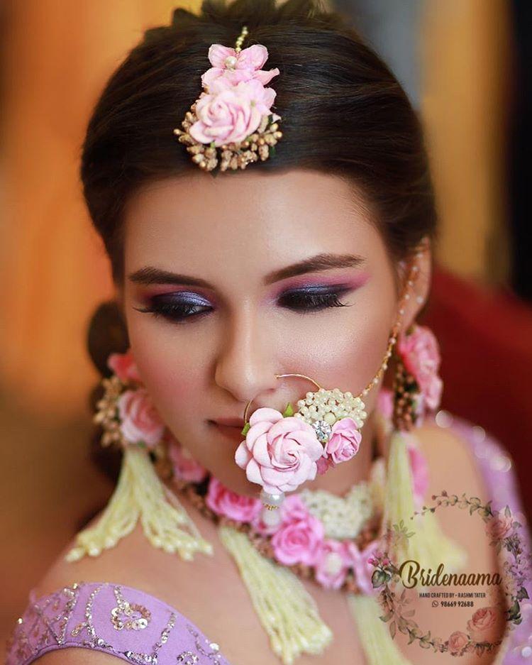 pink floral nath