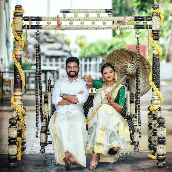 coordinated south indian couple