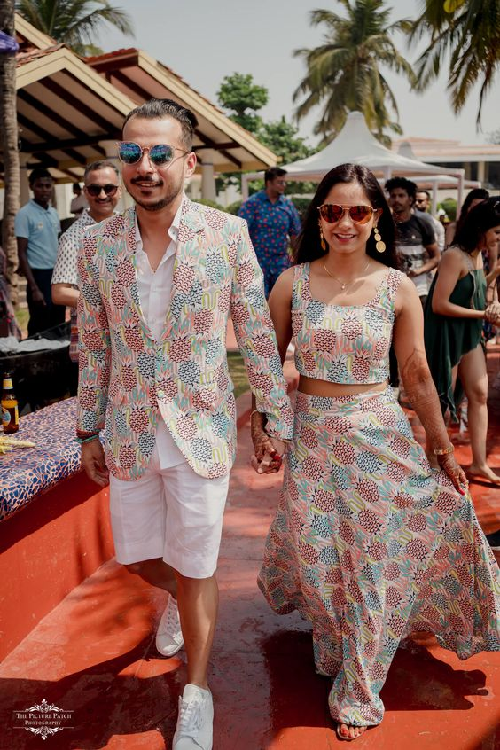 printed matching couple outfits