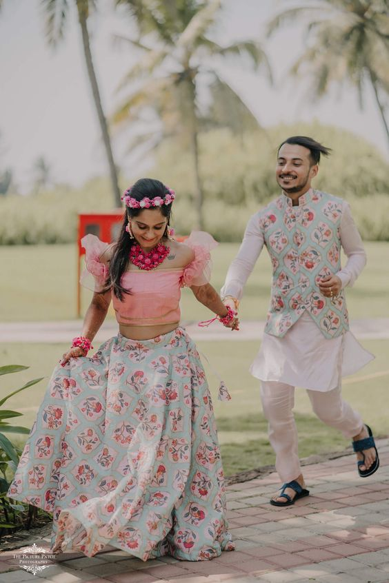 printed matching couple dresses