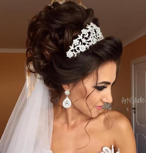 tiara hairstyles
