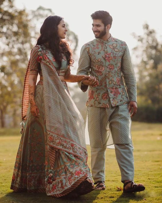 floral matching couple dresses