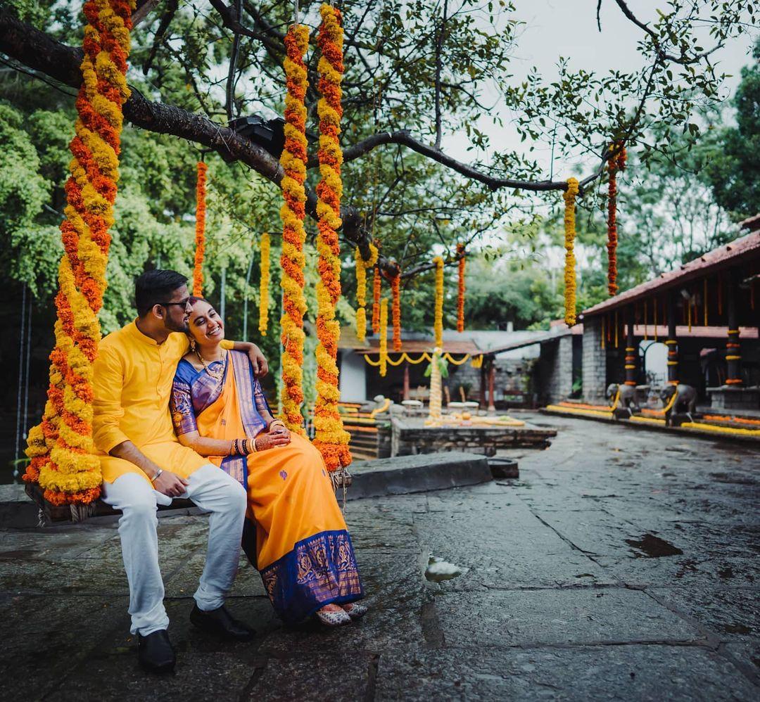 marigold oonjal swing decor