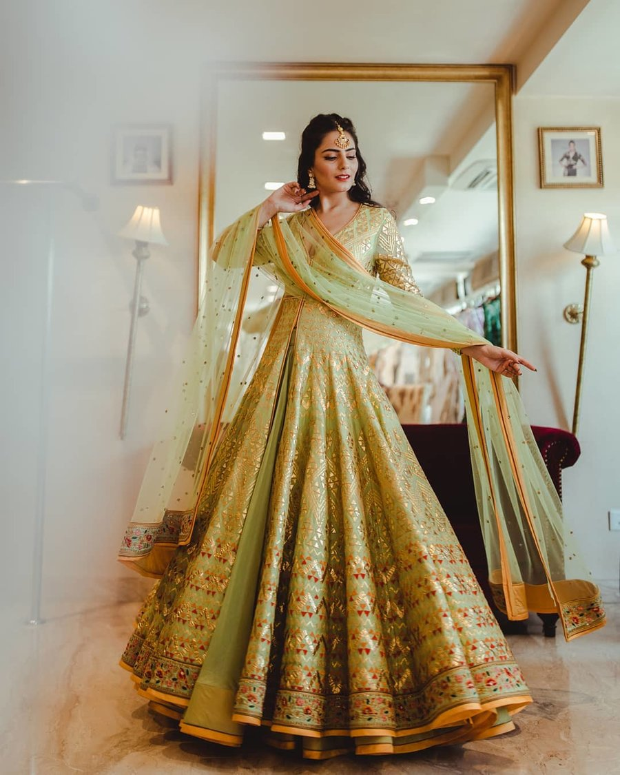 Anarkali for Sangeet Outfit