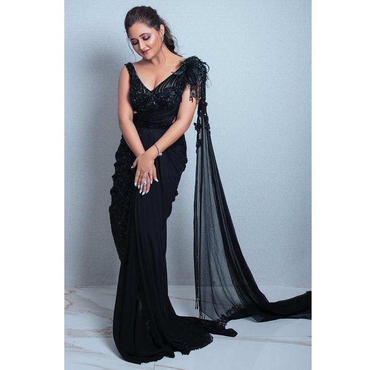 Black Saree Bridesmaid Dress