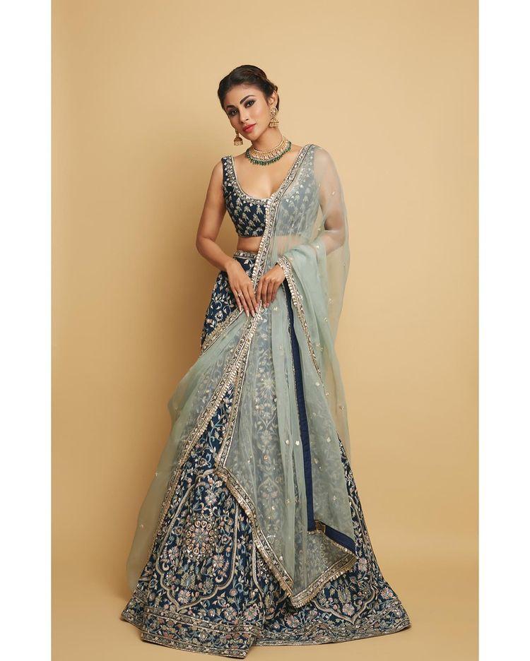 Bridesmaids Blue Lehenga Mouni Roy