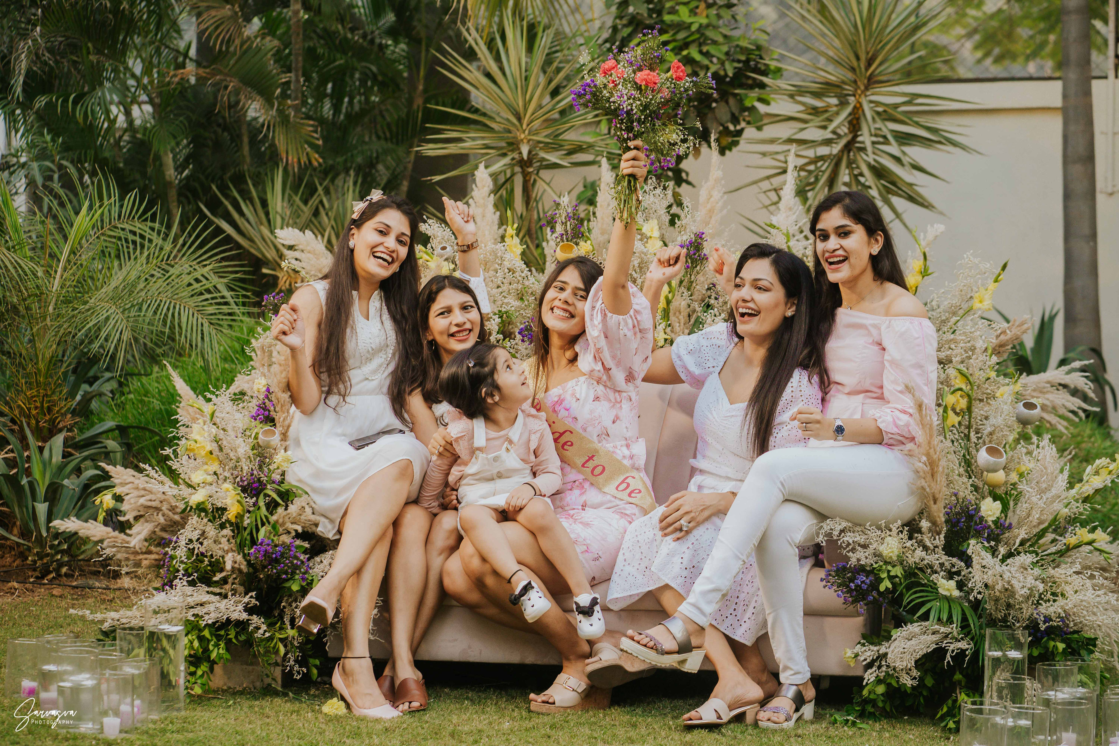 Bridesmaids With the bride-to-be
