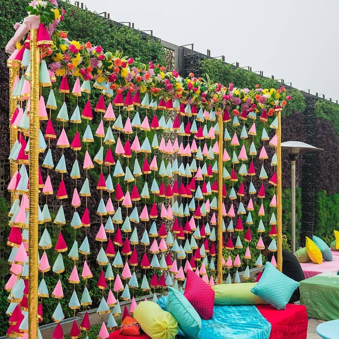 Colorful Backdrop Wedding Decor