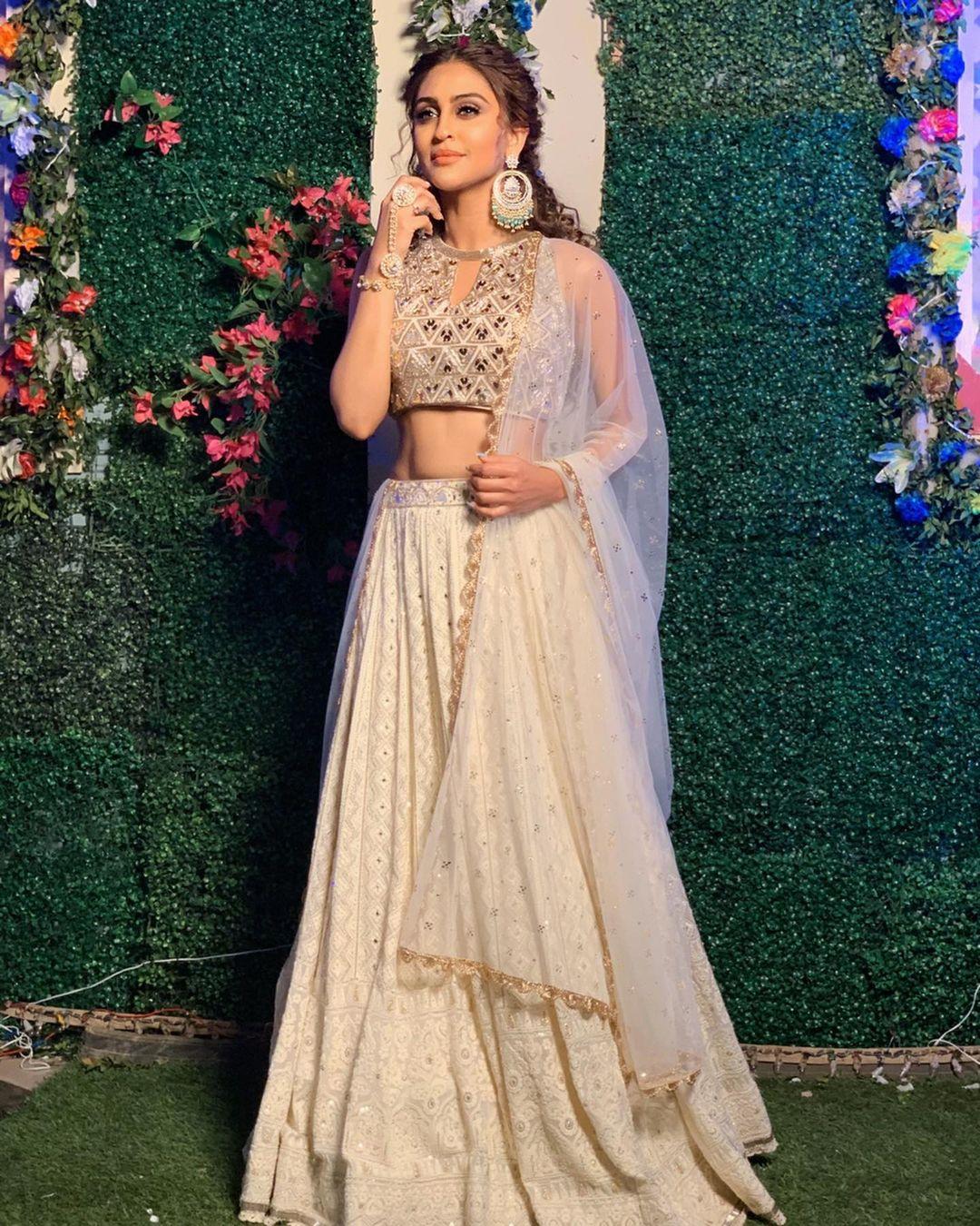 Cream Lehenga Bridesmaids Dress
