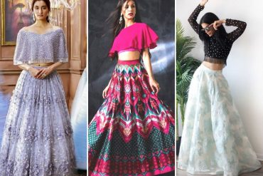 Crop Top With a Lehenga