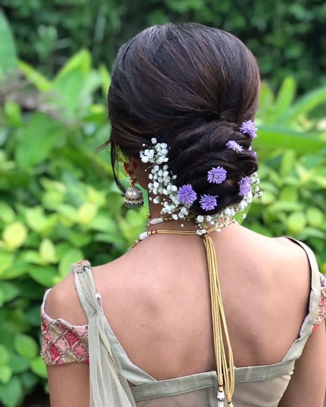 Floral bun hairstyles